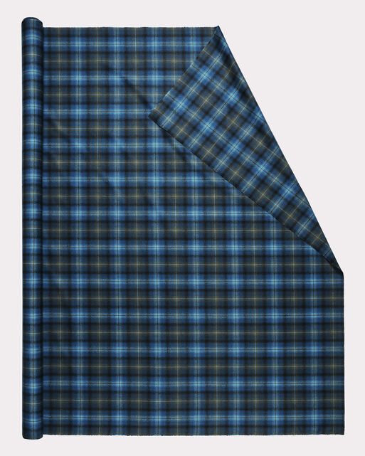OMBRE PLAID FABRIC, NAVY, large