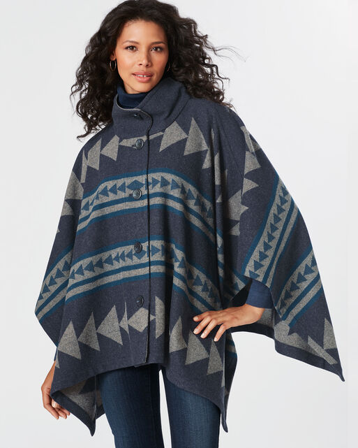 REVERSIBLE CHAPARRAL CAPE, NAVY/GREY, large