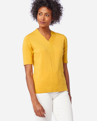 ALTERNATE VIEW OF WOMEN'S COLBY SUIT SWEATER IN MARIGOLD
