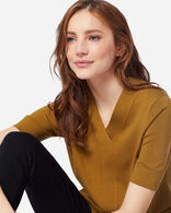WOMEN'S COLBY SUIT SWEATER IN GOLDEN BROWN