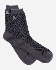 SUNSET CROSS CREW SOCKS, GREY, large