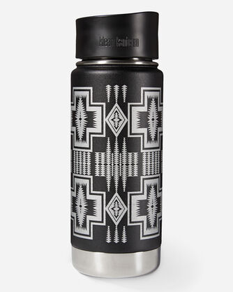 HARDING INSULATED TUMBLER, BLACK/SILVER, large