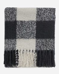 FRINGE THROW, BLACK/IVORY, large
