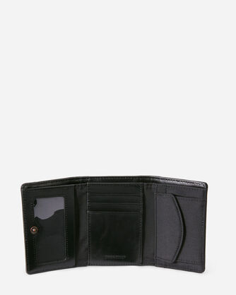ALTERNATE VIEW OF SONORA TRIFOLD WALLET IN BLACK