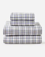 PLAID FLANNEL SHEET SET IN IVORY PEARCE