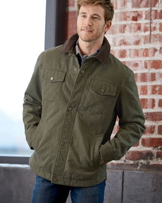 ADDITIONAL VIEW OF MEN'S BANNACK DIAMOND QUILTED JACKET IN OLIVE