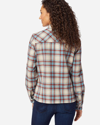 ALTERNATE VIEW OF WOMEN'S LODGE SHIRT IN BLUE/RED PLAID