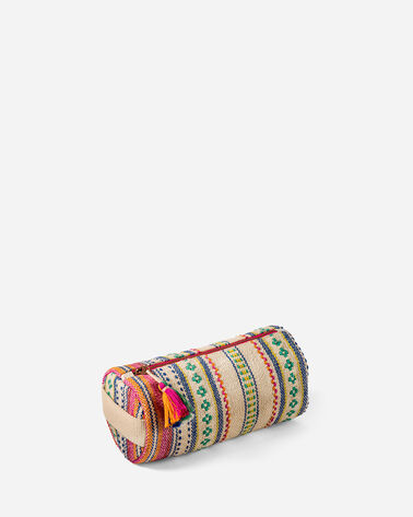 ADDITIONAL VIEW OF PALOMA STRIPE COSMETIC BAG IN BRIGHT STRIPE