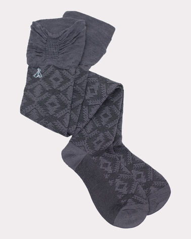 DIAMOND RIVER OVER THE KNEE SOCKS, GREY, large