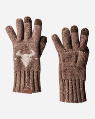 JACQUARD GLOVES, TAN AMERICAN WEST, large