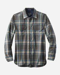 WORSTED FLANNEL FITTED BUCKLEY SHIRT, SLATE PLAID, large