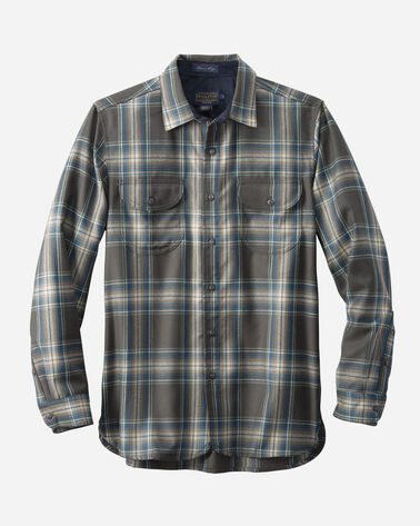 WORSTED FLANNEL FITTED BUCKLEY SHIRT