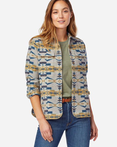 WOMEN'S LIMITED EDITION JACQUARD BOARD SHIRT IN TAN CANYON CREEK