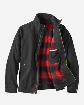 ADDITIONAL VIEW OF MEN'S WOLF POINT CANVAS JACKET IN BLACK/RED