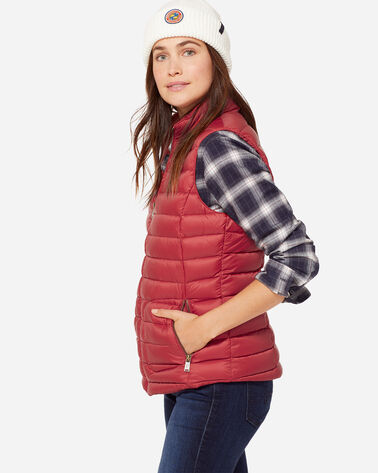 ZIP FRONT VEST, TOMATO RED, large