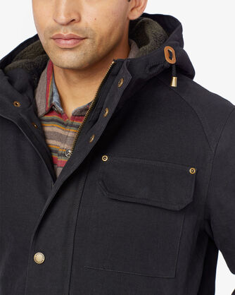 ALTERNATE VIEW OF MEN'S BROTHERS HOODED TIMBER CRUISER IN BLACK