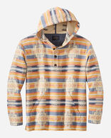 MEN'S HOODIE POPOVER IN CHIEF JOSEPH INDIGO/GOLD