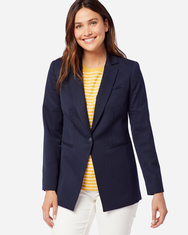 ALTERNATE VIEW OF WOMEN'S SEASONLESS WOOL BLAZER IN MIDNIGHT NAVY