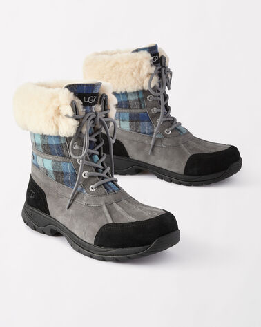 SURF PLAID BUTTE BOOTS, BLUE SURF PLAID, large