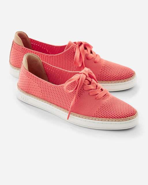 PERFORATED PINKETT SNEAKERS, VIBRANT CORAL, large