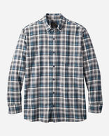MEN'S SOMERSET BUTTON-DOWN SHIRT IN NAVY/BLACK/GREY PLAID