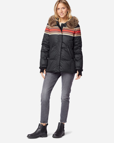 ADDITIONAL VIEW OF WOMEN'S SHORT APRES DOWN PUFFER IN ACADIA BLACK