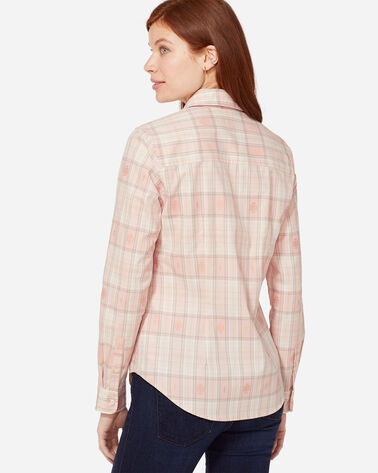ADDITIONAL VIEW OF AUDREY FITTED SHIRT IN CAMEO ROSE