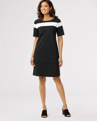 COLORBLOCK DRESS, BLACK, large