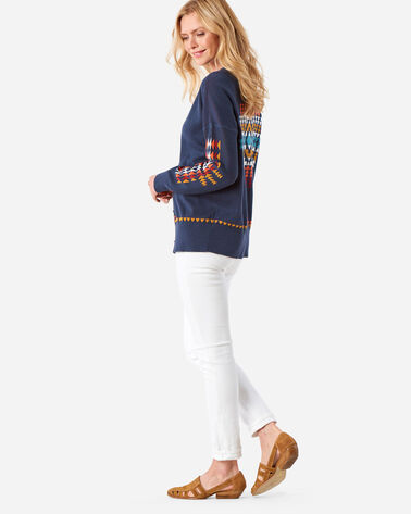 WOMEN'S CHIEF JOSEPH CARDIGAN, INDIGO, large