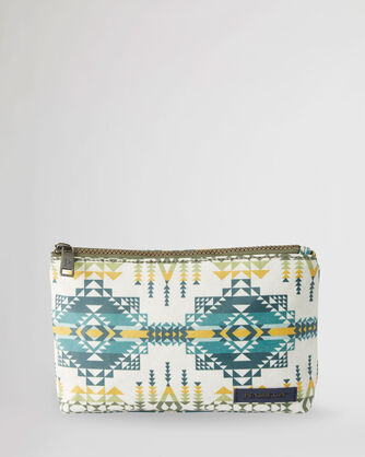 PILOT ROCK CANOPY CANVAS ZIP POUCH IN OLIVE