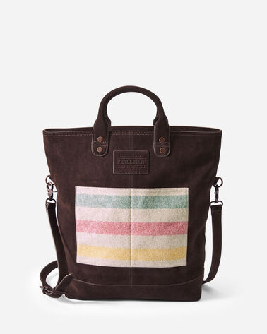 GLACIER STRIPE LONG TOTE IN IVORY