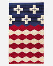 BRAVE STAR SPA TOWEL, RED/WHITE/BLUE, large