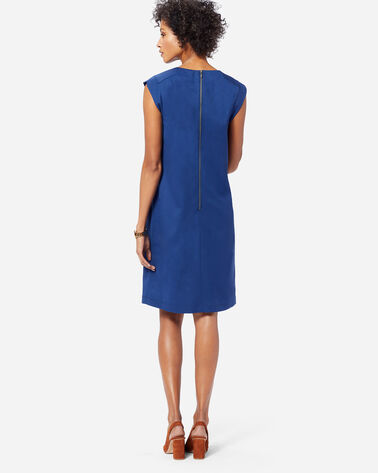 ADDITIONAL VIEW OF SEASONLESS WOOL CHARLI SHIFT DRESS IN ROYAL BLUE