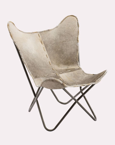 HAIR ON HIDE BUTTERFLY CHAIR, ROAN, large