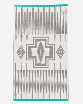 ADDITIONAL VIEW OF HARDING JACQUARD SPA TOWEL IN GREY
