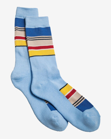 NATIONAL PARK STRIPE CREW SOCKS IN YOSEMITE