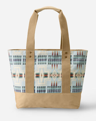 ALTERNATE VIEW OF HARDING CANOPY CANVAS TOTE IN AQUA