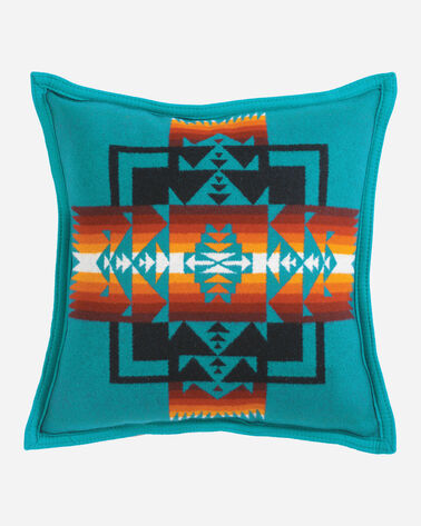 CHIEF JOSEPH PILLOW IN TURQUOISE