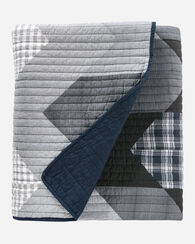TALISE RIVER PIECED QUILT SET, BLUE MULTI, large