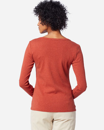 WOMEN'S LONG-SLEEVE COTTON RIBBED TEE