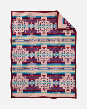 ADDITIONAL VIEW OF CHIEF JOSEPH CRIB BLANKET IN PINK