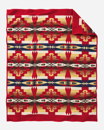 ADDITIONAL VIEW OF TUCSON BLANKET IN SCARLET