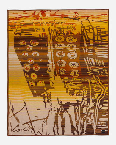 CHIHULY BLANKET #20, GOLD/TAN, large