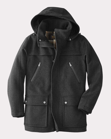 PENDLETON SIGNATURE BAINBRIDGE COAT, CHARCOAL, large