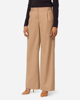 ADDITIONAL VIEW OF HOLLYWOOD AIRLOOM WOOL FLANNEL PANTS IN CAMEL MIX