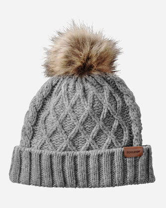CABLE HAT, GREY MIX, large