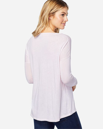 LONG SLEEVE JERSEY TEE, WHISPER PINK, large