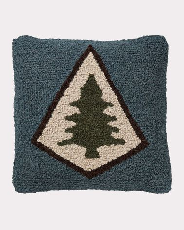 PINE LODGE HOOKED PILLOW, SLATE, large