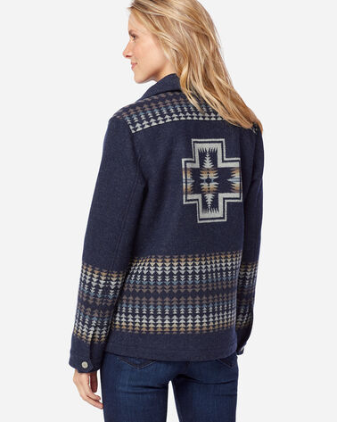 HARDING WESTERN HORIZONS BLANKET COAT IN NAVY MIX