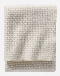LATTICE WEAVE BED BLANKET, IVORY/CREAM, large